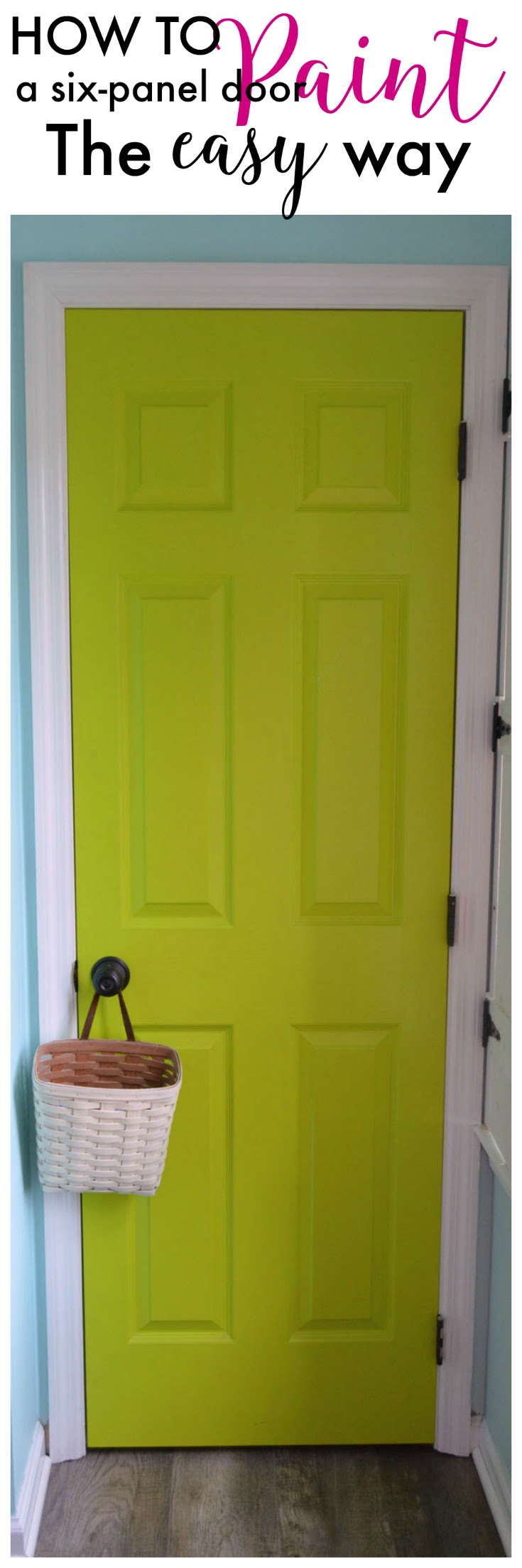 How to Paint a Six Panel Door - Create and Babble