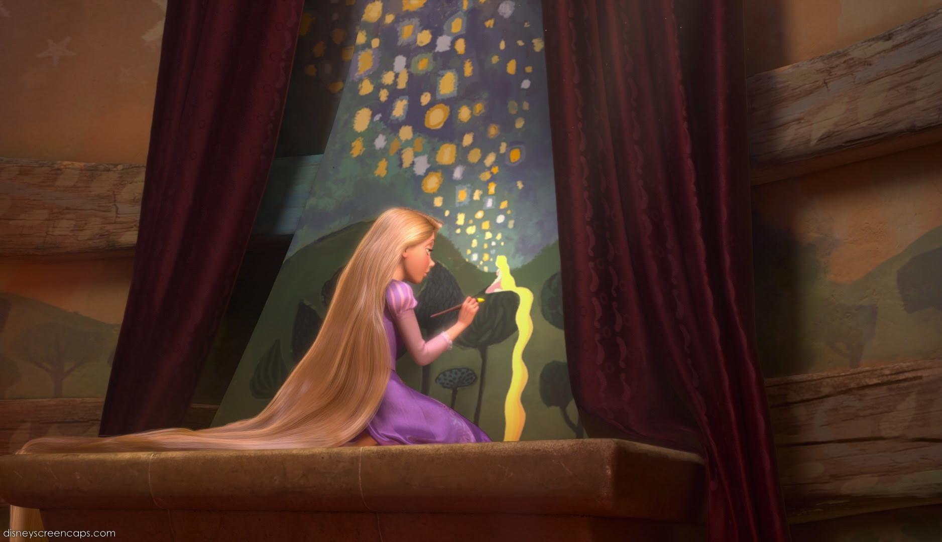 80+ Gambar Rapunzel Hitam Putih Terlihat Keren