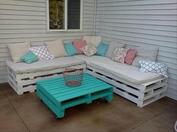 Superb Pallet Patio Furniture Set 101, Build Patio Furniture Out Of Pallets
