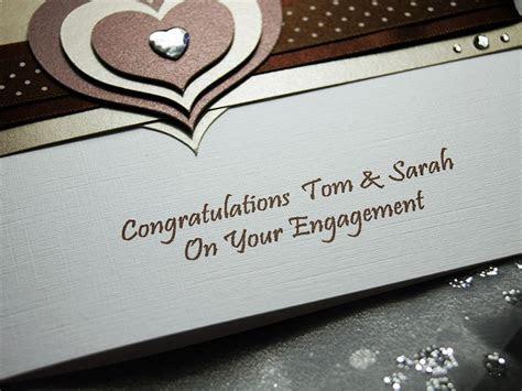 Mocha   Handmade Engagement Card
