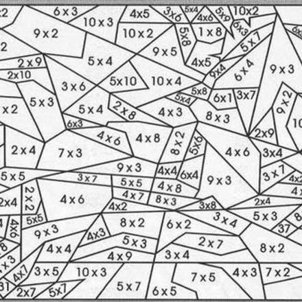 Coloriage204 Coloriage Magique Table De Multiplication Ce2