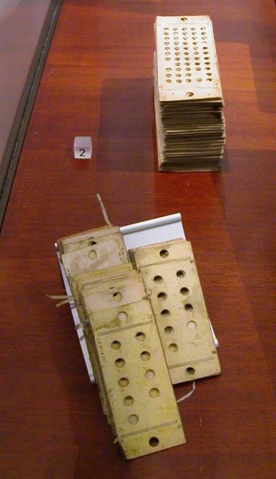 Cartões furados do Computador Analítico de Charles Babbage