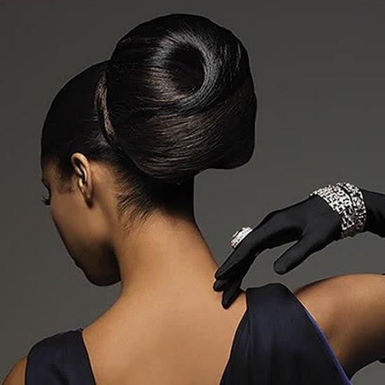 Cute Full Black Dye Stylish Christmas Hairstyles for 2012 13 Elegant Christmas Hairstyle Ideas