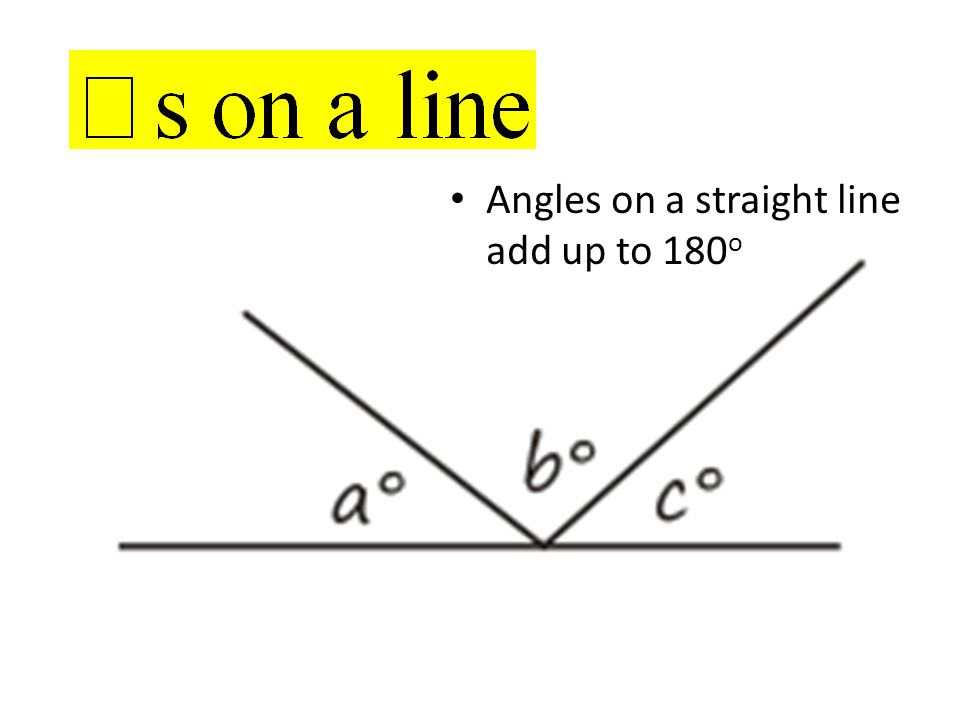 Angles+on+a+straight+line+add+up+to+180o