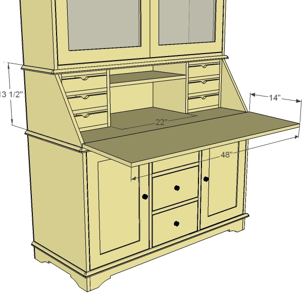 Free Woodworking Plans Secretary Desk Get Woodworking Tools Guide