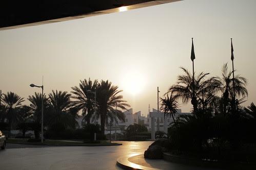 Outside Jumeirah Beach Hotel