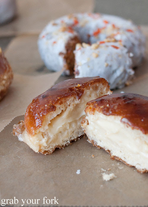 creme brulee doughnut donut at doughnut plant nyc new york lower east side