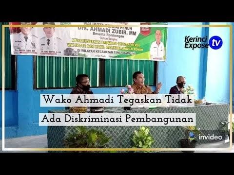 Berkantor Di Kecamatan Tanah Kampung, Wako Ahmadi Tegaskan Tidak Ada Diskriminasi Pembangunan