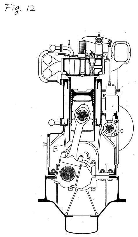 Patent EP0529935A1 - Four-stroke cycle trunk piston type