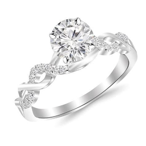 2 Carat Classic Prong Set Diamond Engagement Ring with a 1