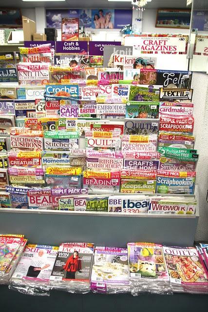 revistas crafts en kiosko de Darwin