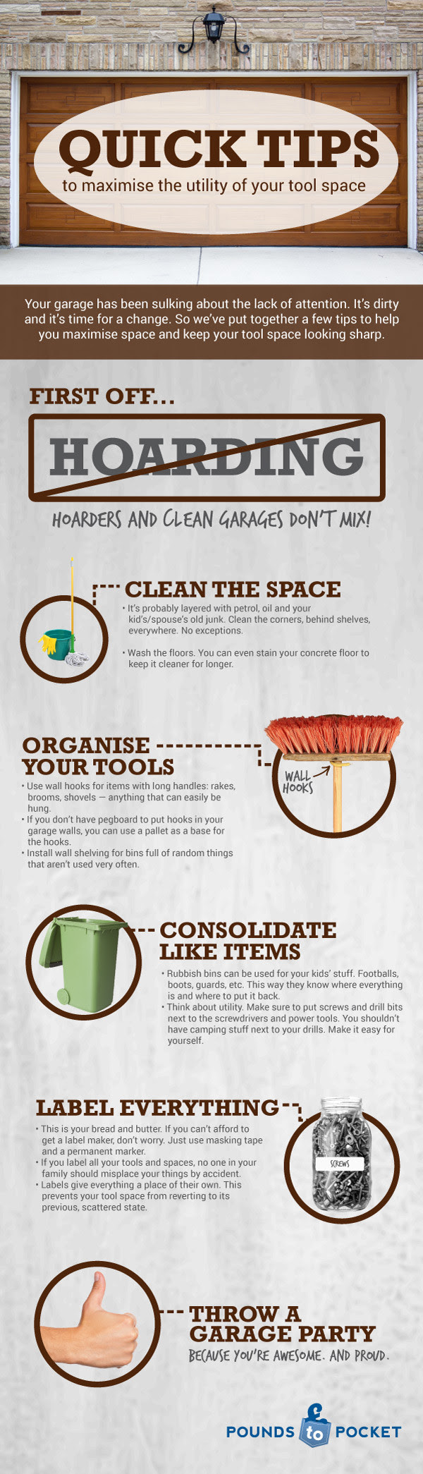 Infographic: Quick Tips to Maximize the Utility of your Tool Space