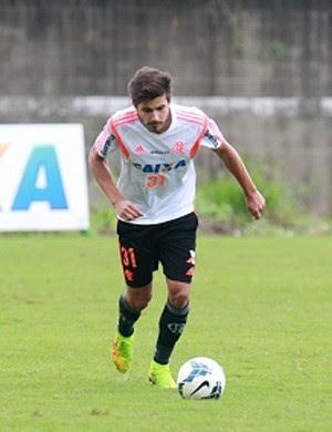 Matheus treino Flamengo (Foto: Site Oficial do Flamengo)