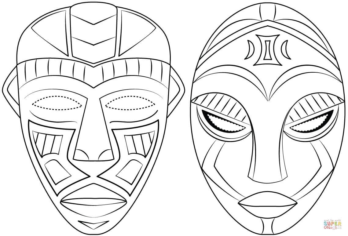35 afrikanische masken zum ausmalen  besten bilder von