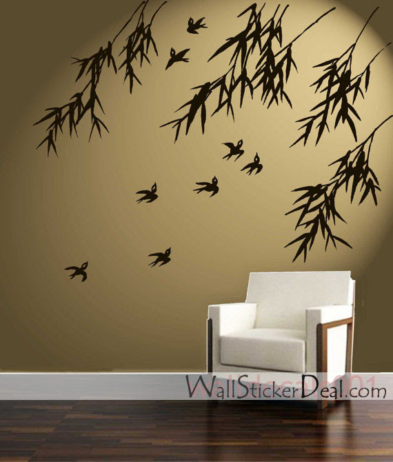 Birds and Bamboo Wall Stickers  Home Decorating Photo 31463371  Fanpop