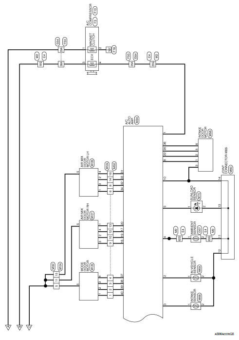 Nissan Sentra Service Manual Wiring Diagram Automatic Air Conditioner Heater Air Conditioning Control System Ventilation Heater Air Conditioner