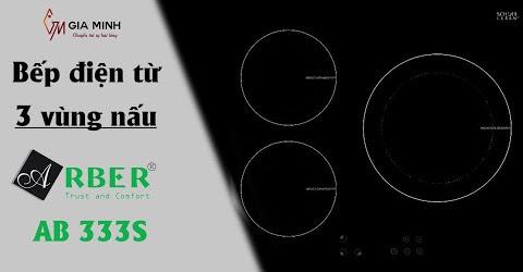 BẤT NGỜ với Bếp điện từ Arber AB-333s với 3 vùng nấu HIỆN ĐẠI - TIẾT KIỆM ĐIỆN