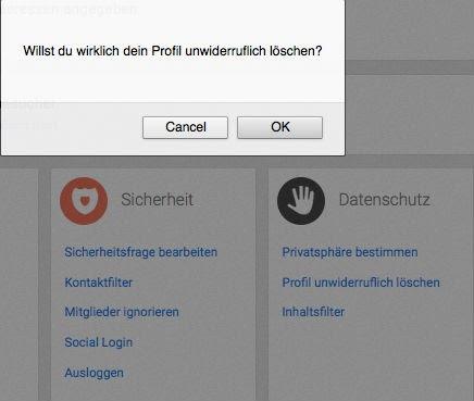 Profil löschen lovescout24 flirtfair kündigen: