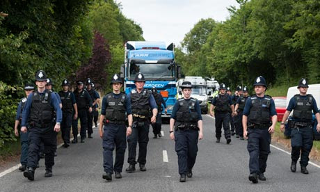Police at Balcombe protest