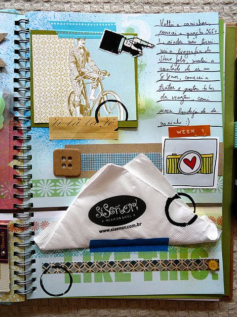 Smashbook 52 Weeks - Week 1 by Georgia Visacri, via Flickr