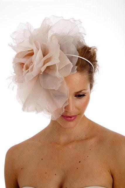 086 - Lux Extra Large Rose Headband- Ethereal, Wedding, Bridal, Headpiece