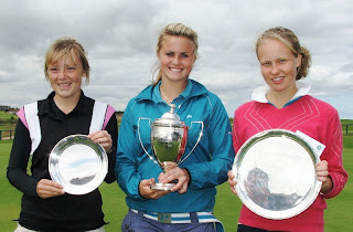 Megan Briggs, Carly Booth and Ainsley Reid Salver winner Gabrielle MacDonald (Prestonfield) - (click to enlarge)