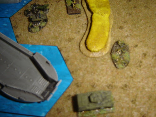 Armour lands on Orange3 to exploit hard work by Marine artillery