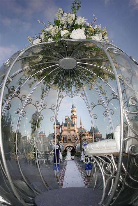 Morning Disneyland Castle Wedding Fairytale Hair and