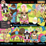 Easter Basket Puppies Kit