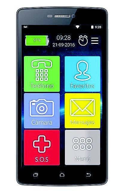 Senior, el teléfono para personas mayores de Coradir