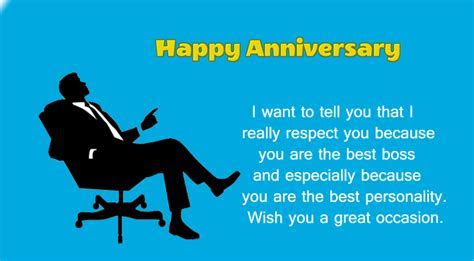 Happy Wedding Anniversary Message to Boss