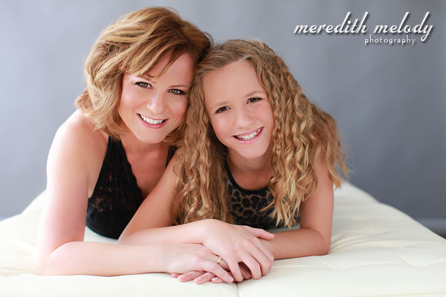 Mother Daughter Glamour Portrait Session Little Rock Family