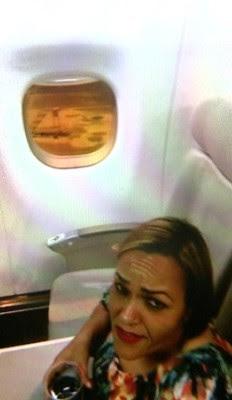 Passageira aguarda 1h dentro da aeronave (Foto: Reprodução/ EPTV)