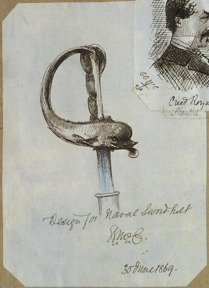 GG McCrae 1800s Design for Naval Sword hilt (NLA)