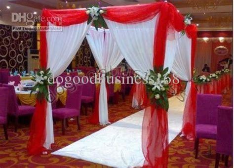 1 Red organza sheer fabrics for curtain/crystal organza