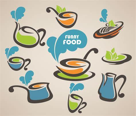 abstract food logos creative design vector  vector