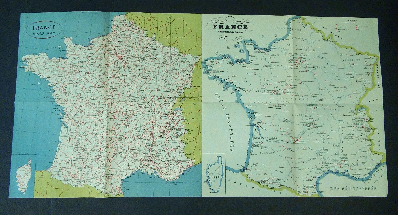 Vintage Road Maps Etsy