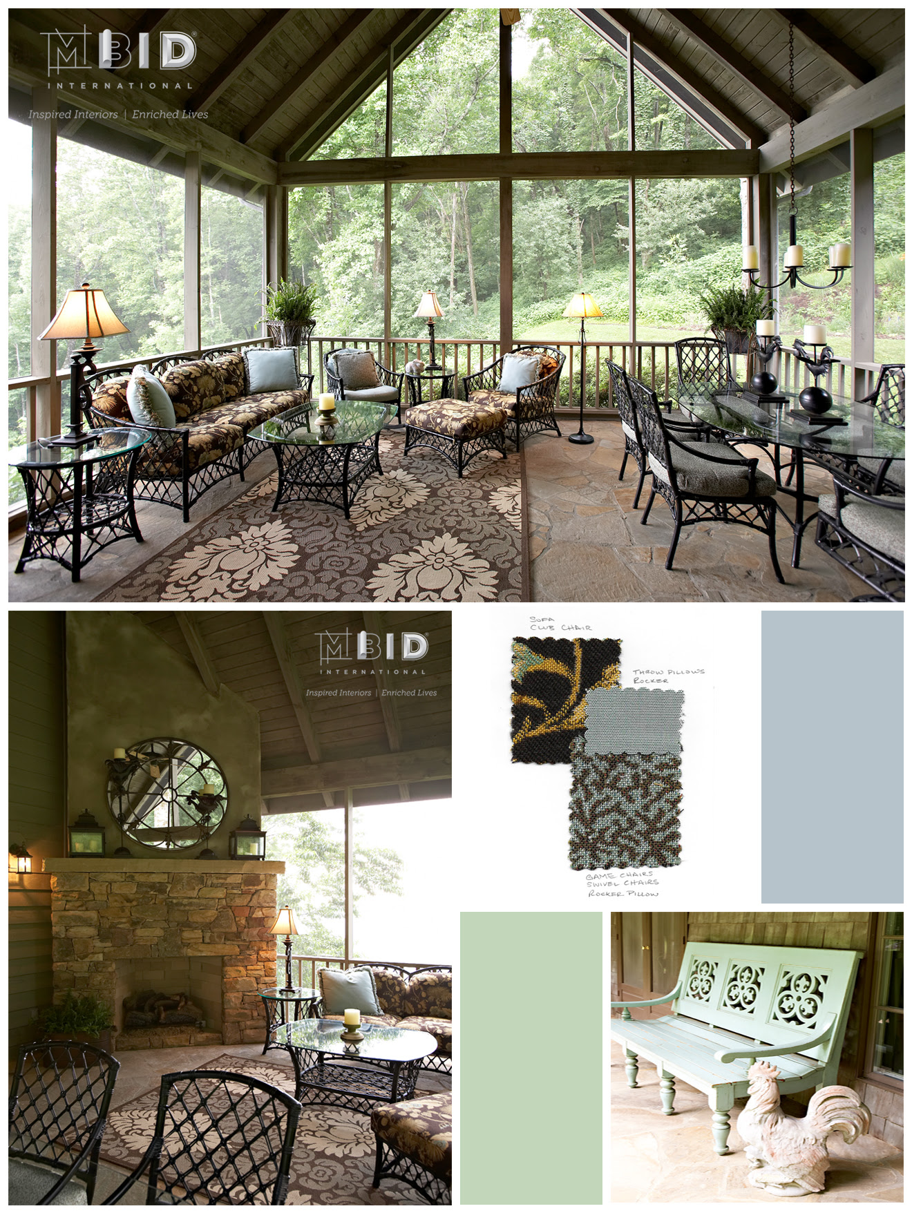 Outdoor Living Screened In Patio Design North Carolina Vacation Home Decor Mbid International