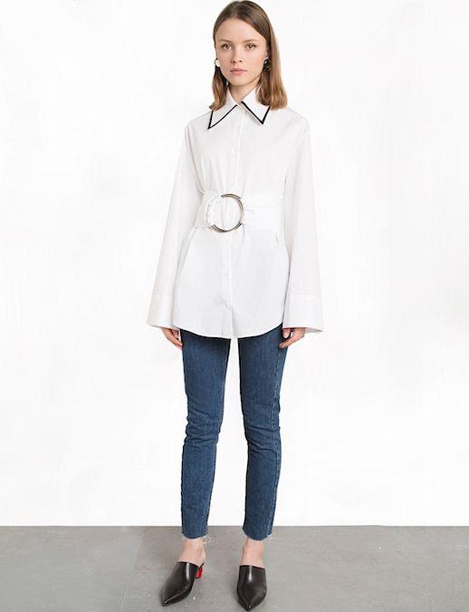 Le Fashion Blog Under $200 Shopping Pixie Market Ring Cinced Belt Waist Cropped Skinny Jeans Mules Via Pixie Market
