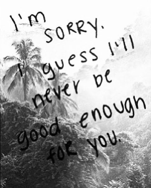 Not Being Good Enough Quotes Sayings Not Being Good Enough