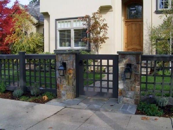 Top 60 Best Front Yard Fence Ideas - Outdoor Barrier Designs