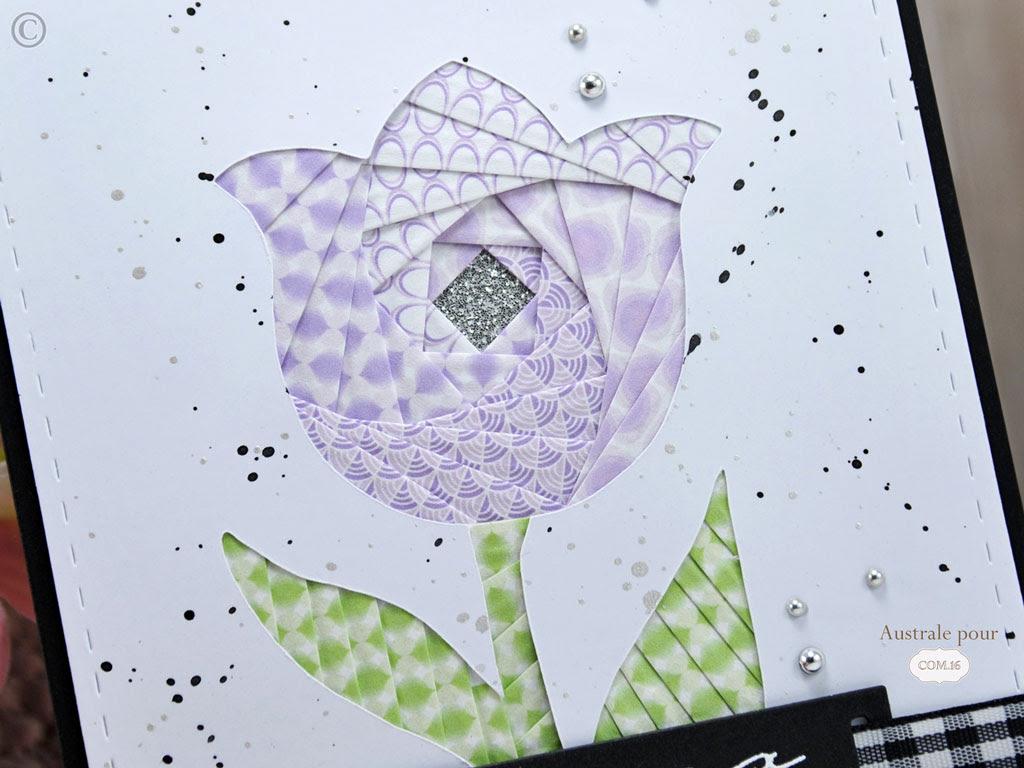Jeu de l'été Com.16 Challenge #4 l'Iris folding