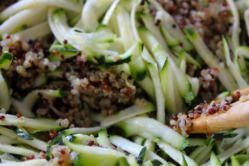 Quinoa and courgette