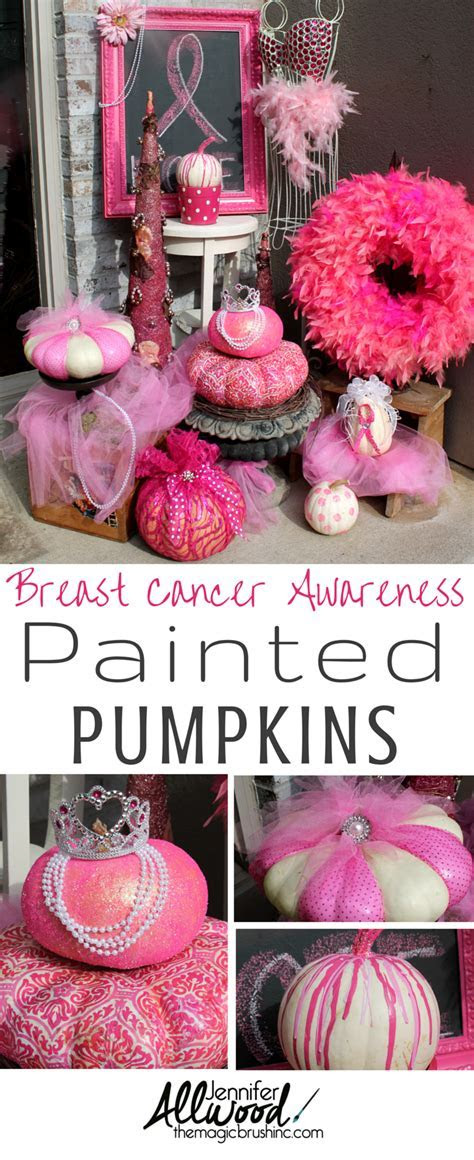 Paint a pink pumpkin for October's Breast Cancer Awareness