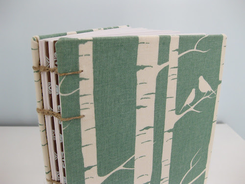 hand made journal by Nothing Sketchy - birch