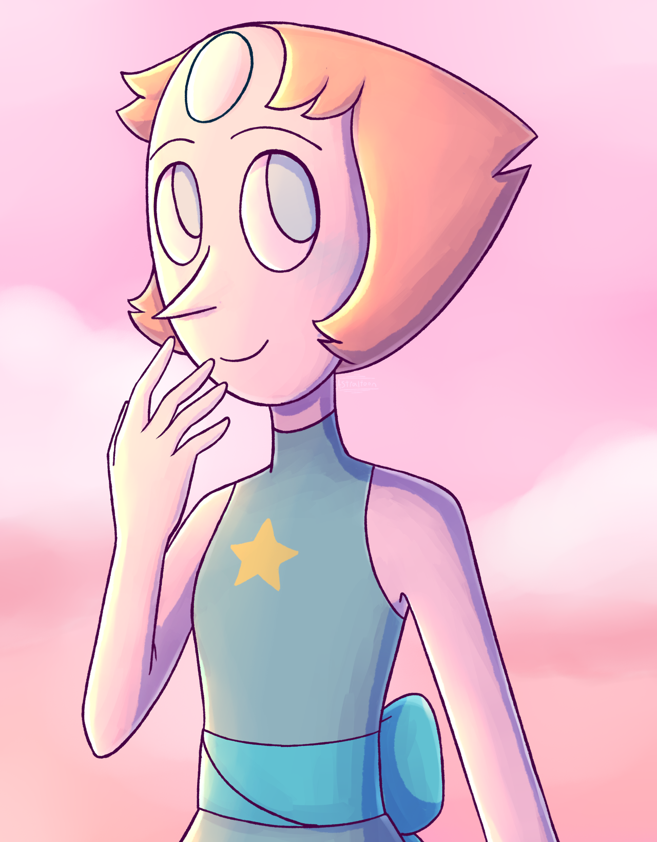 @pearl-likes-pi Happy birthdae it's a little late but here's a Porl for u (there's also a speedpaint!)