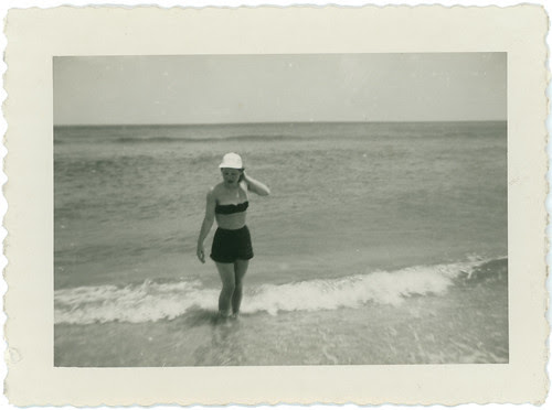 Girl in surf
