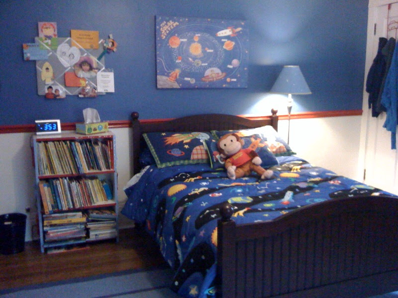 Outer Space Theme Boy Bedroom
