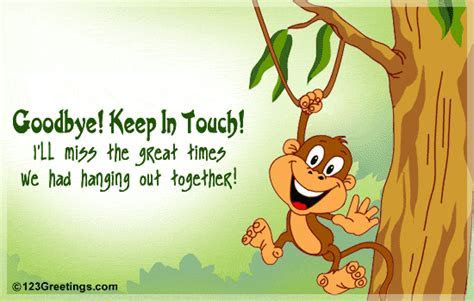 Goodbye! Keep In Touch! Free Keep in Touch eCards