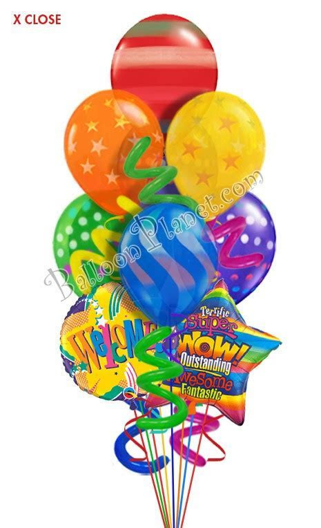 Twisty Airspray Welcome Balloon Bouquet (9 Balloons
